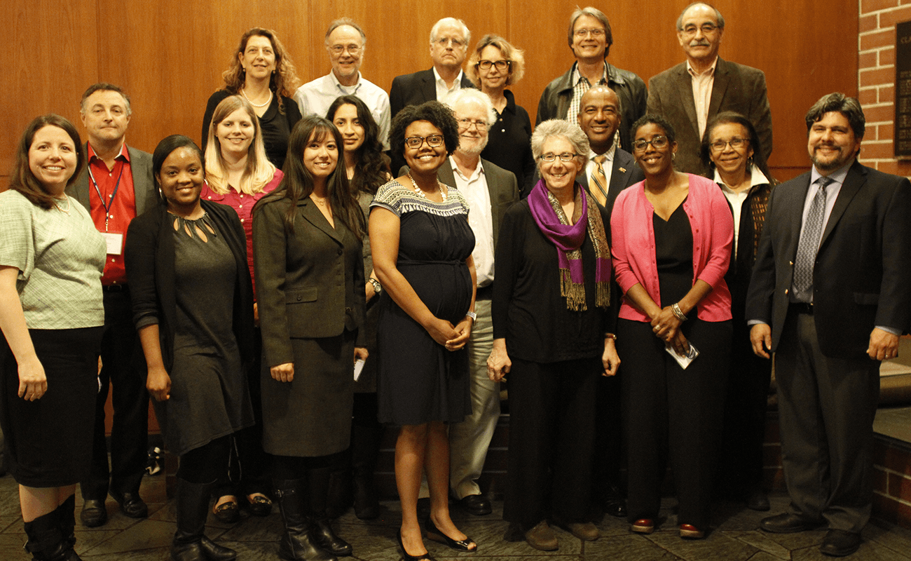 The photo shows a group of California Alliance Conference 2016 featuring administrators and organizers.